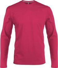 Picture of Heren T-shirt lange mouw met ronde hals Fuchsia