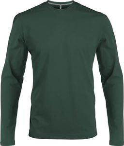 Afbeelding van Heren T-shirt lange mouw met ronde hals Forrest Green