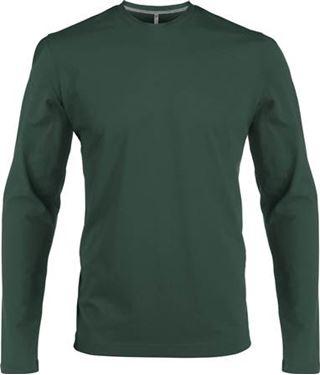 Picture of Heren T-shirt lange mouw met ronde hals Forrest Green
