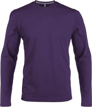 Picture of Heren T-shirt lange mouw met ronde hals Paars