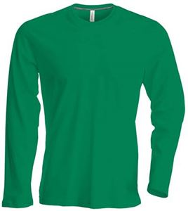 Afbeelding van Heren T-shirt lange mouw met ronde hals Kelly Groen