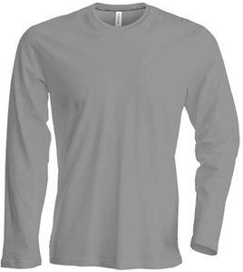 Afbeelding van Heren T-shirt lange mouw met ronde hals Oxford Grey