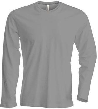 Picture of Heren T-shirt lange mouw met ronde hals Oxford Grey