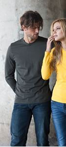 Afbeelding van Heren T-shirt lange mouw met ronde hals