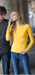 Afbeelding van Dames T-shirt lange mouw met ronde hals