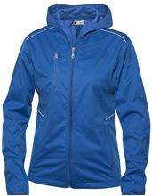 Picture of Dames Stretch Softshell Jack met Capuchon Clique Monroe Blauw