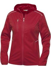 Picture of Dames Stretch Softshell Jack met Capuchon Clique Monroe Rood