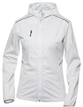 Picture of Dames Stretch Softshell Jack met Capuchon Clique Monroe Wit