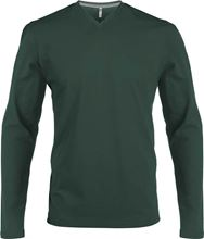 Picture of Heren T-Shirt Lange Mouw V-Hals Forrest Green