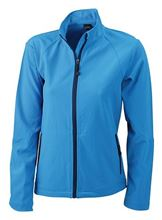 Picture of Dames Softshell Jack J&N Azuur Blauw
