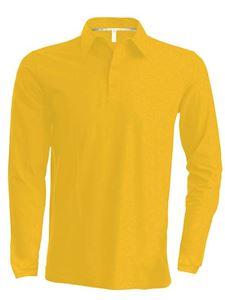 Afbeelding van Heren Polo met lange mouwen Kariban Yellow