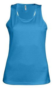 Afbeelding van  Ladies sports vest Aqua Blue
