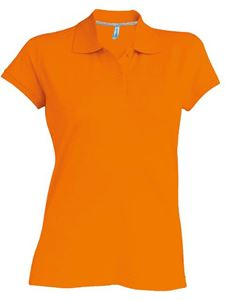 Afbeelding van Oranje Dames Polo met korte mouwen Kariban