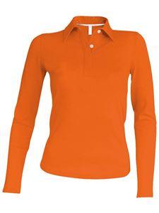 Afbeelding van Oranje Dames Polo met lange mouwen Kariban
