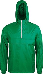 Afbeelding van SALE 1/4 Zip Windjack Kariban Kelly Green / White