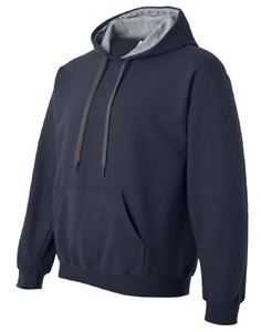 Afbeelding van SALE Heavy blend adult contrasted hooded sweatshirt Navy / Sport Grey