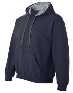 Afbeelding van SALE Heavy blend adult contrasted hooded sweatshirt Navy / Sport Grey