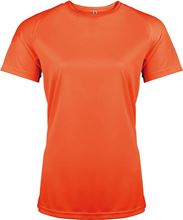 Picture of Dames Sport T-shirt Proact Fluorescent Orange