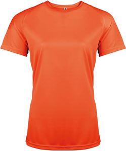 Afbeelding van Dames Sport T-shirt Proact Fluorescent Orange