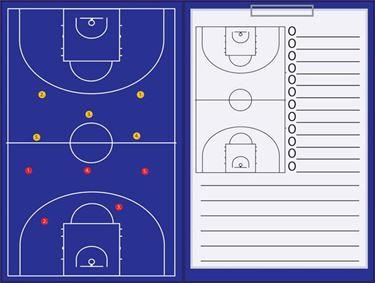 Picture of Magnetische coachmap met clip en schrijfblok Basketbal