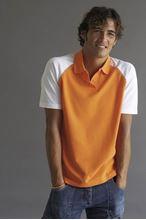 Picture of Baseball Polo Kariban Orange / White