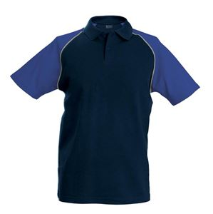 Afbeelding van Baseball Polo Kariban Navy / Royal Blue