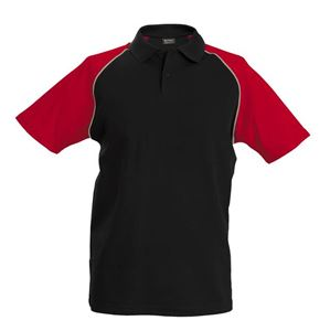 Afbeelding van Baseball Polo Kariban Black / Red