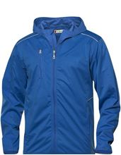 Picture of Softshell Jack met Capuchon Clique Monroe voor Teams Blauw