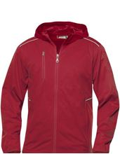 Picture of Softshell Jack met Capuchon Clique Monroe voor Teams Rood