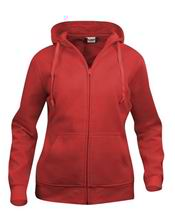 Picture of Clique Basic Hoody Full Zip Ladies  Rood
