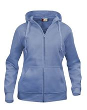 Picture of Clique Basic Hoody Full Zip Ladies  Lichtblauw