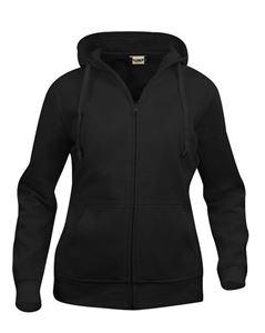 Afbeelding van Clique Basic Hoody Full Zip Ladies  Zwart
