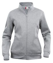 Picture of Dames Sweatshirt Clique Cardigan met rits Grijsmelange