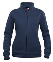 Picture of Dames Sweatshirt Clique Cardigan met rits Donkerblauw