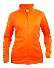 Picture of Dames Sweatshirt Clique Cardigan met rits Signaal Oranje
