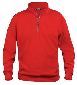 Afbeelding van Clique Basic Sweater Half Zip Rood