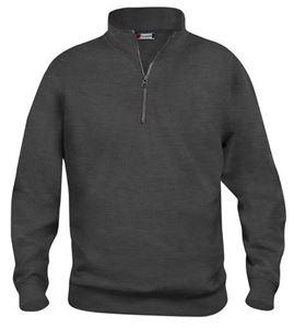 Afbeelding van Clique Basic Sweater Half Zip Antraciet Grijs