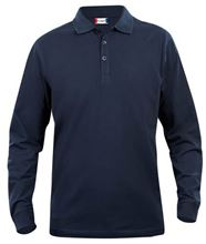 Picture of Clique Classic Lincoln Polo lange mouw Donkerblauw