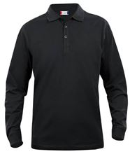 Picture of Clique Classic Lincoln Polo lange mouw Zwart