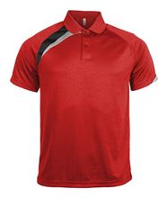 Picture of Polo Adult Proact Red / Black / Storm Grey