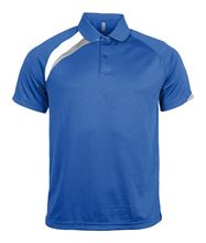 Picture of Polo Adult Proact Royal Blue / White / Storm Grey