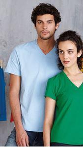 Afbeelding van Heren T-shirt korte mouw met V-hals