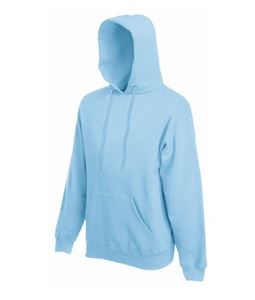 Afbeelding van Fruit of the Loom Classic Hooded Sweat Sky Blue