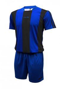 Afbeelding van Voetbal set korte mouw Blauw Zwart