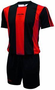 Afbeelding van Voetbal set korte mouw Zwart Rood