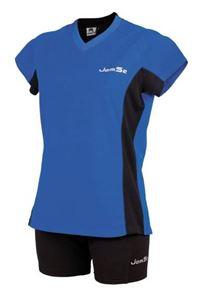 Afbeelding van Dames indoorshirt Athens Blauw - Zwart