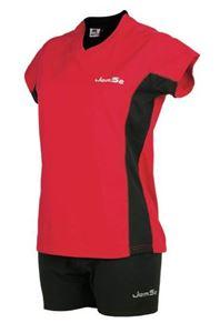 Afbeelding van Dames indoorshirt Athens Rood-Zwart