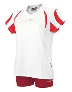 Afbeelding van Indoor Shirt Amsterdam voor dames Wit - Rood