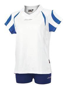 Afbeelding van Indoor Shirt Amsterdam voor dames Wit - Blauw