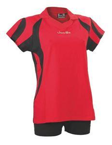 Afbeelding van Indoor Shirt Amsterdam voor dames Rood - Zwart